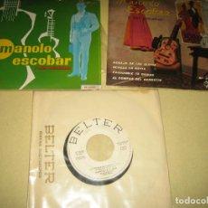 Discos de vinilo: MANOLO ESCOBAR - LOTE DE 3 SINGLES. Lote 97455743
