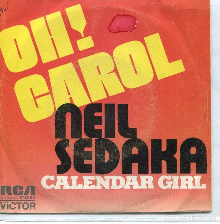 Neil Sedaka Calendar Girl.Neil Sedaka Oh Carol Calendar Girl Single Promo 1973