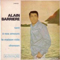Discos de vinilo: ALAIN BARRIERE EP TANT RCA VICTOR ESPAÑA 1965. Lote 97494899