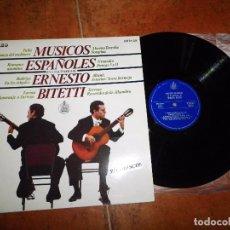 Discos de vinilo: MUSICOS ESPAÑOLES EN LA GUITARRA DE ERNESTO BITETTI LP VINILO 1969 ESPAÑA CONTIENE 10 TEMAS. Lote 97506519