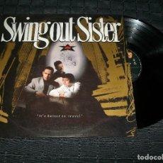 Discos de vinilo: SWING OUT SISTER - IT´S BETTER TO TRAVEL - LP - MERCURY DE 1987 - BUEN ESTADO. Lote 97510927