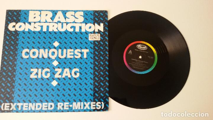 BRASS CONSTRUCTION - CONQUEST / ZIG ZAG (EXTENDED RE-MIXES) (Música - Discos de Vinilo - Maxi Singles - Funk, Soul y Black Music)