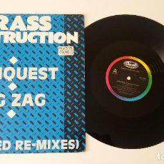 Discos de vinilo: BRASS CONSTRUCTION - CONQUEST / ZIG ZAG (EXTENDED RE-MIXES). Lote 97523639