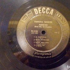 Discos de vinilo: PANCHO AND HIS ORCHESTRA - FAMOUS TANGOS - MINI LP DE 10'' - DECCA AÑO 1952 - BUEN ESTADO. Lote 97527163