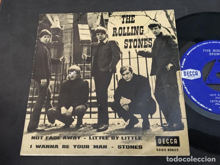 THE ROLLING STONES (NOT FADE AWAY +3 ) EP ESPAÑA 1963 TRICENTRE (EPI9) (Música - Discos de Vinilo - EPs - Pop - Rock Internacional de los 50 y 60)