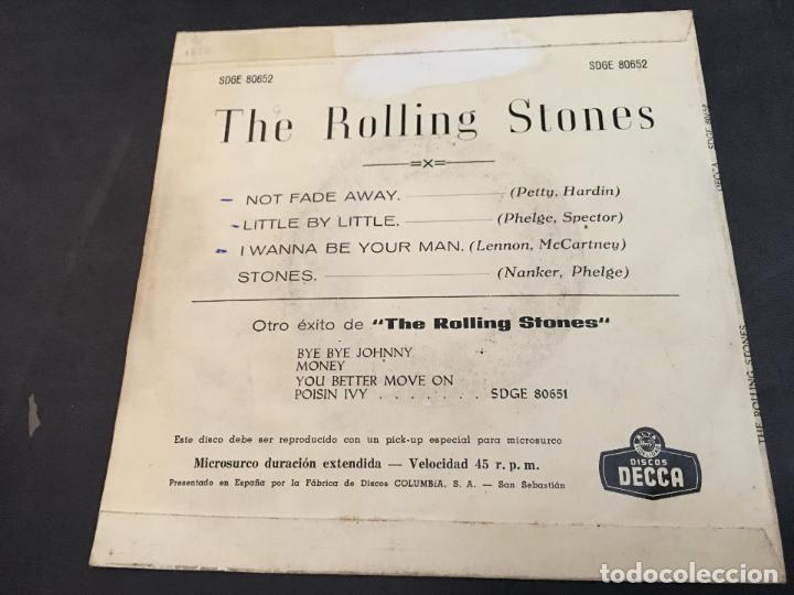 Discos de vinilo: THE ROLLING STONES (NOT FADE AWAY +3 ) EP ESPAÑA 1963 TRICENTRE (EPI9) - Foto 3 - 97530791