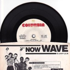 Discos de vinilo: NOW WAVE SAMPLER. PAUL COLLINS' BEAT,THE SINCEROS,HOUNDS,JULES & THE POLAR BEARS. EP PROMO UK 1979. . Lote 97533867