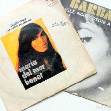 Discos de vinilo: Mª DEL MAR BONET AGUILA NEGRA + BARBARA L'AIGLE NOIR SINGLE 45 RPM BOCACCIO/PHILIPS 1970-71. Lote 97539939