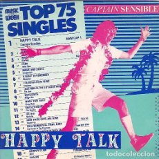 Discos de vinilo: CAPTAIN SENSIBLE (THE DAMNED) - HAPPY TALK. SINGLE PROMOCIONAL 1982.. Lote 97546111