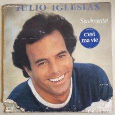 Discos de vinilo: DISCO DE VINILO DE JULIO IGLESIAS EN FRANCES 'C'EST MA VIE' DEL AÑO 1980.. Lote 97604391