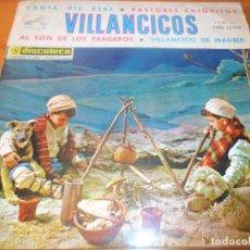 Discos de vinilo: VILLANCICOS CORO DE NIÑOS Y ORQUESTA- CANTA RIE BEBE/ VILLANCICO DE MADRID/ PASTORES CHIQUITOS +1 - . Lote 97606411