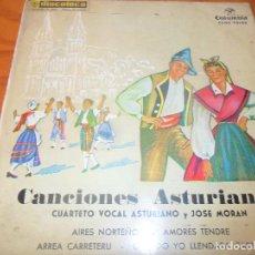 Dischi in vinile: CANCIONES ASTURIANAS - ARREA CARRETERU/ AMORES TENDRE/ CUANDO YO LLENDABA CABRES +1 - EP 1962. Lote 97610543