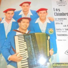 Discos de vinilo: LOS CHIMBEROS - LA RIANXEIRA/ TABERNERA QUE NO FIA/ GAITA Y TAMBOR +1 - EP 1963. Lote 97611479