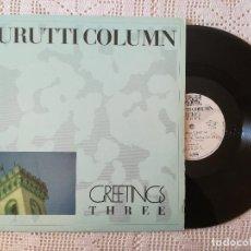 Discos de vinilo: DURUTTI COLUMN, GREETINGS THREE (MATERIALI SONORI 1986) MAXI SINGLE ITALIA - 4 TEMAS. Lote 97613891