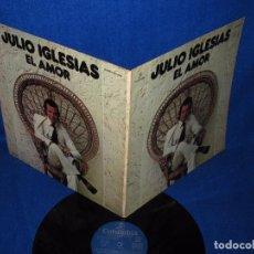 Discos de vinilo: JULIO IGLESIAS - EL AMOR - LP DOBLE CARPETA CON LAS LETRAS 1977. Lote 97621499