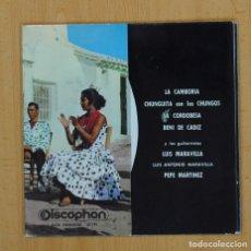 Discos de vinilo: VARIOS - ANDALUCIA GITANA JUERGA GITANA - EP. Lote 97622979