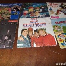 Discos de vinilo: LOTE DE CINCO SINGLES Y UN EP MUSICA INFANTIL. Lote 97629071