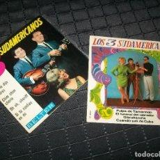Discos de vinilo: LOS 3 SUDAMERICANOS - 2 EP´S DE BELTER - ME LO DIJO PEREZ, CUANDO SALI DE CUBA ... ETC . Lote 97633215