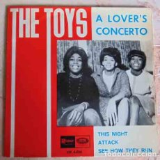 Discos de vinilo: THE TOYS – A LOVERS CONCERTO - EP 1966. Lote 97640947