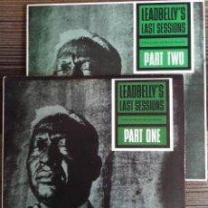 Discos de vinilo: LEADBELLY'S LAST SESSIONS PART ONE Y TWO - 2 LP FOLKWAYS/DIAL 1984 EDICIÓN ESPAÑOLA. Lote 97646619