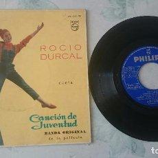 Disques de vinyle: ROCÍO DURCAL: QUISIERA SER UN ANGEL + 3 (PHILIPS 1962). Lote 97649971