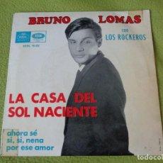 Discos de vinil: BRUNO LOMAS CON LOS ROCKEROS - LA CASA DEL SOL NACIENTE +3 (EP EMI-REGAL 1965). Lote 97657475