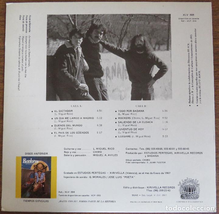 Discos de vinilo: BADANA ROCK DE CLOACA EDICION ORIGINAL 1987 XIRIVELLA RECORDS - Foto 2 - 97669727