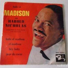 Discos de vinilo: HAROLD NICHOLAS BAILE EL MADISON 1962 BARCLAY ED ESPAÑOLA LATIN. Lote 97688711