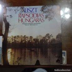 Discos de vinilo: LISZT RAPSODIAS HUNGARAS. Lote 97689071