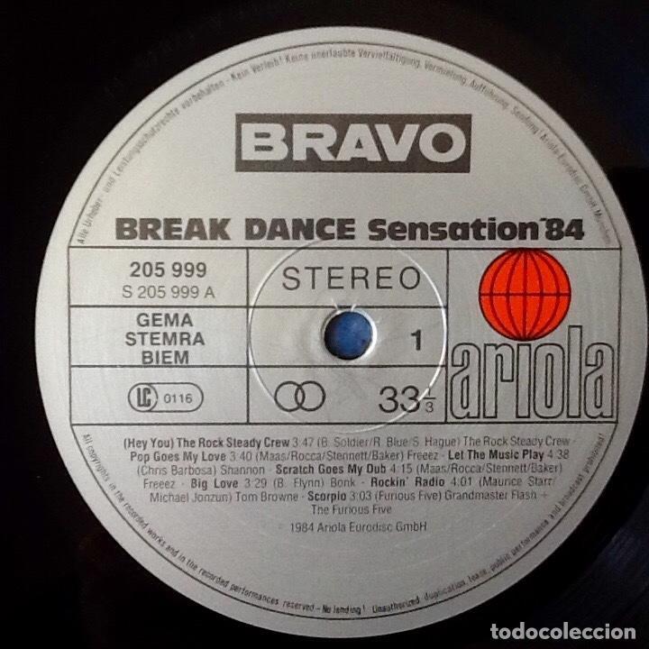 Discos de vinilo: V / A : BRAVO BREAKDANCE SENSATION 84 [DEU 1983] LP - FREEEZ, GRANDMASTER FLASH, ROCK STEADY CREW - Foto 3 - 97689215