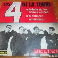 Discos de vinilo: LOS 4 DE LA TORRE - BALADA DE LOS BOINAS VERDES/ EL FOLKLORE AMERICANO. Lote 97689475