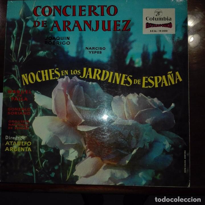 CONCIERTO DE ARANJUEZ-NOCHE EN LOS JARDINES DE ESPAÑA (Música - Discos de Vinilo - Maxi Singles - Clásica, Ópera, Zarzuela y Marchas)