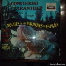 Discos de vinilo: CONCIERTO DE ARANJUEZ-NOCHE EN LOS JARDINES DE ESPAÑA. Lote 97689667