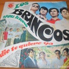 Discos de vinilo: LOS BRINCOS - YOU KNOW / NADIE TE QUIERE YA -. Lote 97690439
