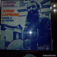 Discos de vinilo: JORGE CANTA A LA PATRIA. Lote 97692251