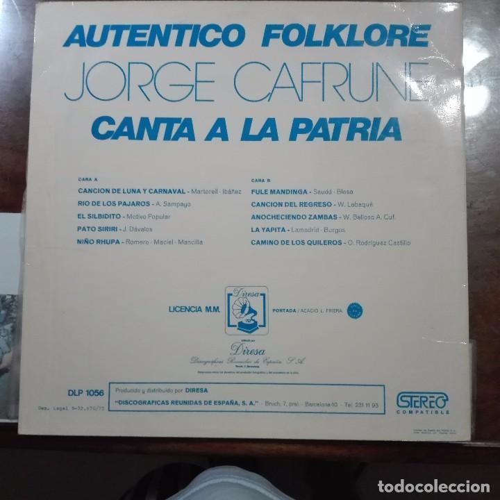 Discos de vinilo: JORGE CANTA A LA PATRIA - Foto 2 - 97692251
