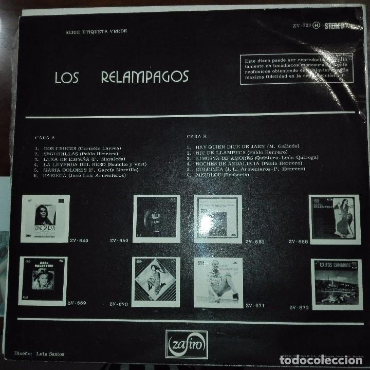 Discos de vinilo: LOS RELAMPAGOS - DOS CRUCES - ZAFIRO 1972 - Foto 2 - 97693671
