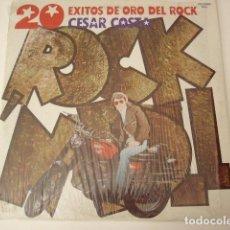 Discos de vinilo: CESAR COSTA. 20 EXITOS DE ORO DEL ROCK. MUSART. MEXICO. VINILO EXCELENTE.. Lote 97694267