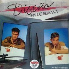Dischi in vinile: DISEÑO - FIN DE SEMANA LP PROMO + INFO SPAIN 1983. Lote 97698351