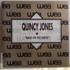 Dischi in vinile: QUINCY JONES - BACK ON THE BLOCK / IDEM - NUEVO PROMO. Lote 97702971