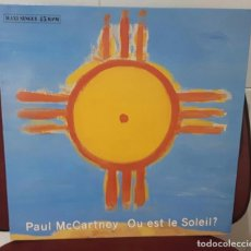 Discos de vinilo: PAUL MCCARTNEY - BEATLES - OU EST LE SOLEIL? - MAXISINGLE- ESPAÑA- 3 TEMAS - EXCELENTE. Lote 97719047