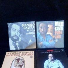 Discos de vinilo: LOSE DE 4 SINGLES SIN USAR. Lote 97727151