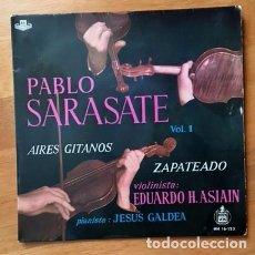 Discos de vinilo: PABLO SARASATE - AIRES GITANOS - EDUARDO H. ASIAIN, JESÚS GALDEA - 1959. Lote 97735867