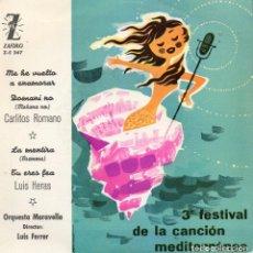 Discos de vinilo: CARLITOS ROMANO - LUIS HERAS, EP, ME HE VUELTO A ENAMORAR + 3, AÑO 1961. Lote 97754190