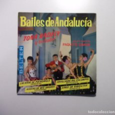 Discos de vinilo: BAILES DE ANDALUCIA. TONA RADEY. PAQUITO SIMON. LAS NIÑAS DE FUENGIROLA. AIRES DE GIBRALTAR. TDKDS7. Lote 97755875