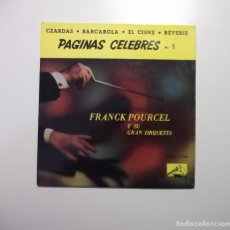 Discos de vinilo: FRANCK POURCEL Y SU GRAN ORQUESTA. PAGINAS CELEBRES Nº 1. CZARDAS. BARCAROLA. EL CISNE. TDKDS7. Lote 97761315