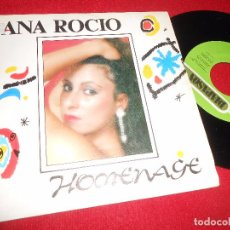 Discos de vinilo: ANA ROCIO HOMENAJE-HOMENAGE/NUEVO AMANECER 7'' 1991 DIAPASON PROMO. Lote 97762971