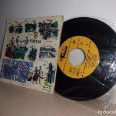 Discos de vinilo: VIZCAYA- ECOS DE VASCONIA AIRES NORTEÑOS AIRES NAVARROS ESTAMPA VASCA-RONDALLA BIDASOA 1966 EKIPO. Lote 97766171