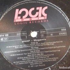 Discos de vinilo: SNAP! - MEGA MIX - 1991. Lote 97779151