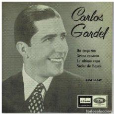 Discos de vinilo: SINGLE - CARLOS GARDEL - UN TROPEZON .... Lote 97790739
